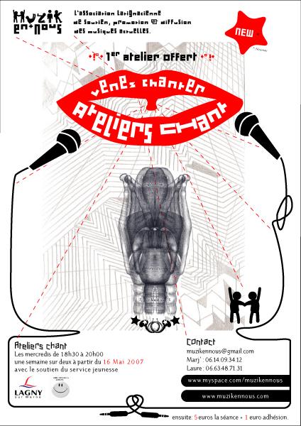 Affiche pour des ateliers-chant