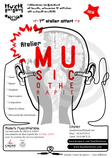 Affiches pour des ateliers-musique